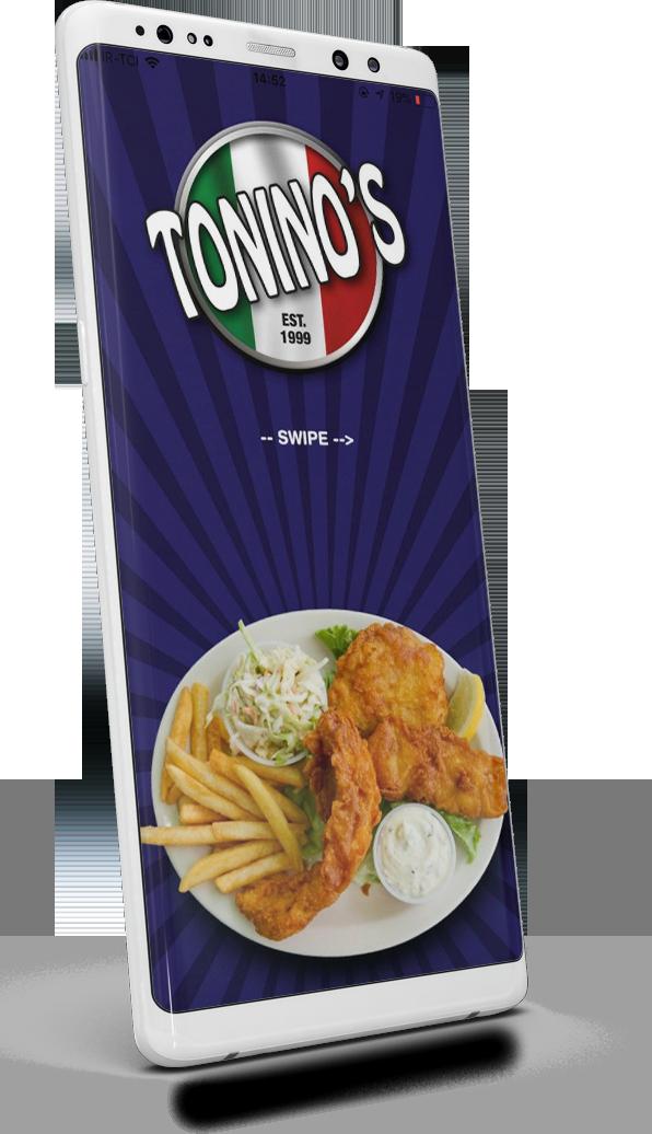 Tonino's Fish & Chips Bar App screen
